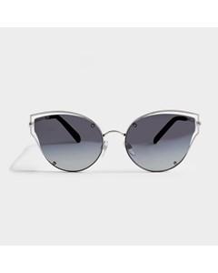 Sunglasses In Black Metal And Acetate Black