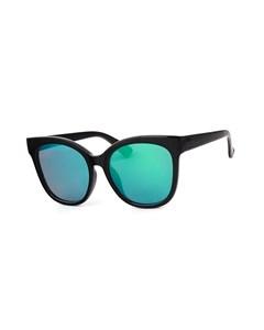 Schwarze Montini-Sonnenbrille mit blaugrünen Gläsern