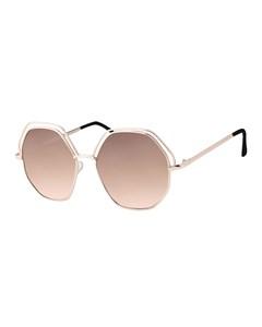 Goldfarbene Sonnenbrille mit dunkelbraunen Gläsern