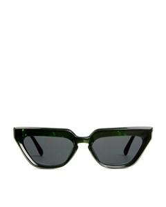 Cat-eye Acetate Sunglasses Black/green