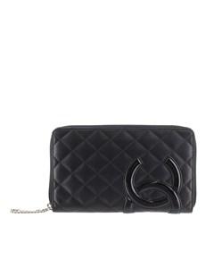 Chanel Cambon Ligne Lambskin Long Wallet Black