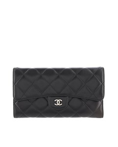 Chanel Matelasse Lambskin Wallet Black