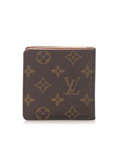 Louis Vuitton Monogram Porte Cartes Bifold Wallet Brown