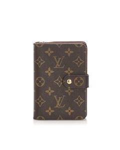 Louis Vuitton Monogram Porto Papier Zip Brown