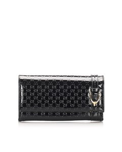 Gucci Microguccissima Patent Leather Nice Wallet Black