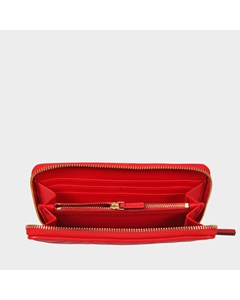 Fleming Zip Continental Wallet In Exoctic Red Lambskin Leather Exotic Red