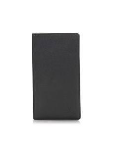Louis Vuitton Taiga Porte-cartes Credit Yen Wallet Black