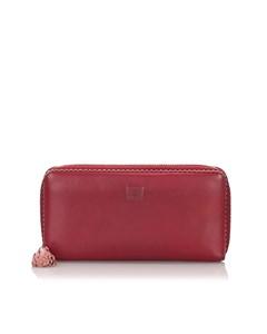 Loewe Leather Amazona Long Wallet Red