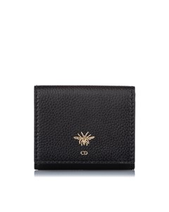 Dior D-bee French Leather Wallet Black