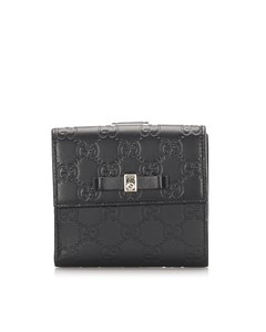 Gucci Guccissima Bow Signature Wallet Black