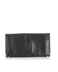 Celine Leather Wallet Black