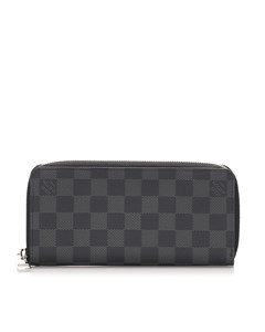 Louis Vuitton Damier Graphite Vertical Zippy Wallet Black
