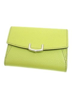 Cartier Leather C De Cartier Wallet Green