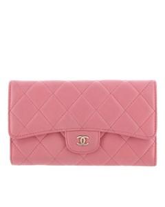 Chanel Matelasse Lambskin Wallet Pink