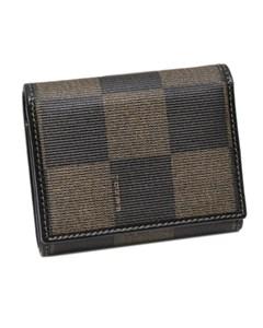 Fendi Pequin Small Wallet Brown