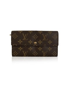 Louis Vuitton Monogram Long Sarah Clutch Continental Wallet