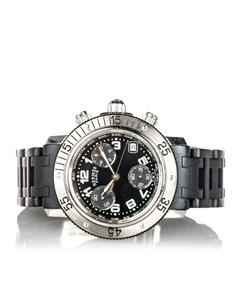 Hermes Clipper Diver Chronograph Quartz Womens Watch Black