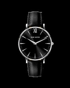 Silver/svart Läder Berkeley 38