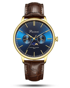 Pacinni Moonphase Blue Gold