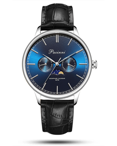 Pacinni Moonphase Blue Silver