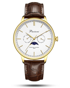 Pacinni Moonphase White Gold