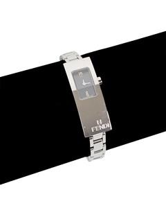 Fendi Stainless Steel Mod 3300 L Women Wrist Watch Black Dial