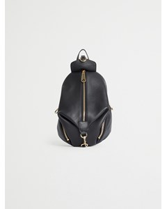 Convertible Mini Julian Backpack Pebble 003 Black