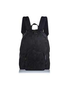 Alexander Mcqueen Printed Jacquard Backpack Black