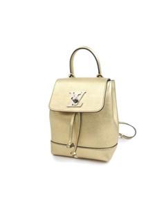 Louis Vuitton Mini Metallic Lockme Backpack Gold