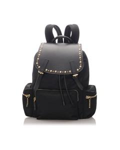 Burberry Studded Nylon Backpack Black