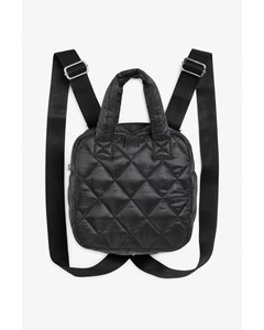 Mini Quilted Backpack Black Magic