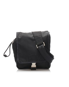 Prada Tessuto Sling Backpack Black