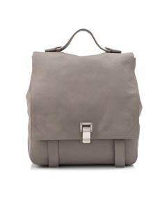 Proenza Schouler Courier Leather Backpack Gray
