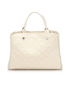 Louis Vuitton Monogram Empreinte Montaigne Mm White