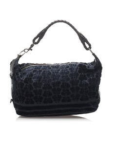 Bottega Veneta Velour Handbag Blue