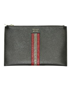 Saffiano Leather Zip Pouch