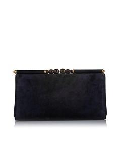 Gucci Suede Clutch Bag Blue
