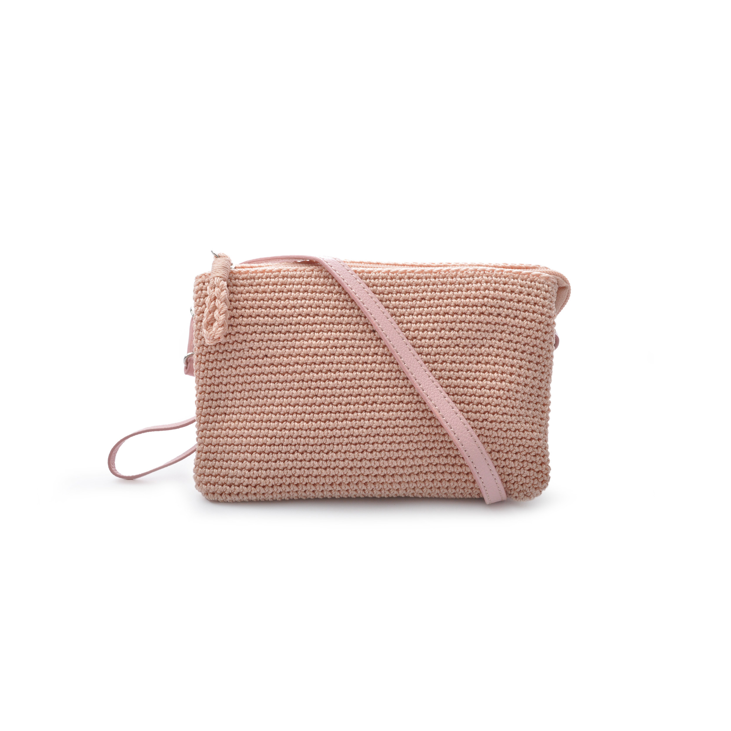 75a11bd36ac Three Pocket Bag Pink Crochet Collection Pink | Shoppa Online | Afound