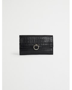 Jean Clutch Croco 003 Black