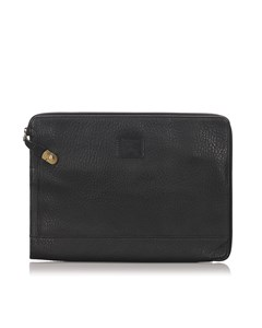 Burberry Leather Clutch Bag Black