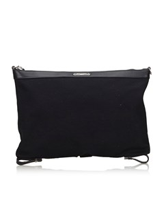 Ysl Id Convertible Clutch Bag Black