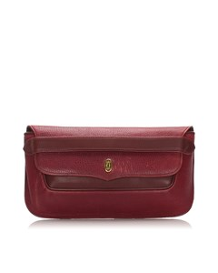 Cartier Leather Must De Cartier Clutch Red
