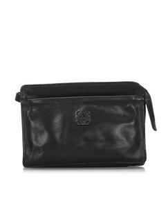 Loewe Leather Clutch Bag Black