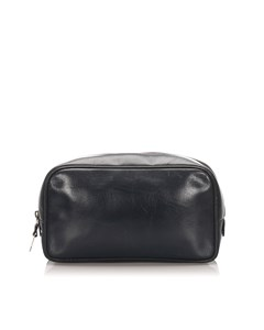 Gucci Leather Clutch Bag Black