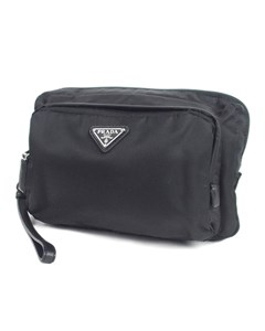 Prada Tessuto Clutch Bag Black