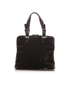 Prada Velvet Handbag Brown