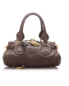 Chloe Leather Paddington Handbag Brown