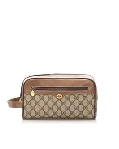 Gucci Gg Supreme Vanity Bag Brown
