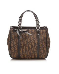 Dior Dior Oblique Romantique Handbag Brown