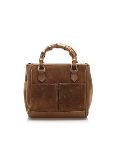 Gucci Bamboo Suede Handbag Brown